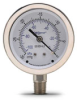 -30 to 0 inch Hg Vacuum Pressure Gauge with 2.5 inch mechanical dial -- G25-SDV-4LS - Image