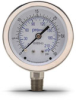 0-30 psi / 0-210 kPa Pressure Gauge with 2.5 inch mechanical dial -- G25-SD30-4LS