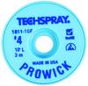 Techspray Pro Wick #4 Blue Rosin Flux Coating Desoldering Braid 1811-10F - 10 ft Length - 0.098 in Diameter - Rosin Flux Core -- 1811-10F