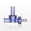 Dual Check Valve, Female Luer Slip Inlet, Male Luer Slip Outlet, Female Luer Lock Control Port -- 80186 -Image