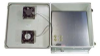 18x16x08 UL Listed Fiberglass Polyester FRP Weatherproof Outdoor IP24 NEMA 3R Enclosure, 120 VAC MNT PLT, Solid State Thermostat Fan Gray -- TEF181608-10FS-UL -Image
