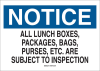 Brady B-555 Aluminum Rectangle White Admittance Sign - 14 in Width x 10 in Height - 40698 -- 754476-40698