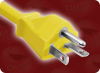 NEMA 6-20P YELLOW to IEC-60320-C13 YELLOW HOME • Power Cords • High Voltage Power Cords • Straight Blade Power Cords -- 1675.092 -Image