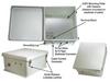 18x16x08 Fiberglass Reinf Polyester FRP Weatherproof Outdoor IP66 NEMA 4 Enclosure, 240 VAC MNT PLT, Mechanical Thermostat Heat Gray -- TEF181608-2H0 -Image