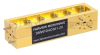 20 dB WR-10 Waveguide Broadwall Coupler with UG-387/U-Mod Round Cover Flange and H-Plane Coupled Port from 75 GHz to 110 GHz in Brass Copper -- SMW10HC001-20 - Image