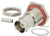 BNC Female Bulkhead Mount Connector Crimp/Solder Attachment for RG178, .480 inch D Hole -- LCCN3030