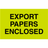 "3in x 5"" - ""Export Papers Enclosed"" Labels -- DL2401"
