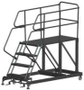 Mobile Work Platform,Length 60 In,4 Step -- SEP4-3660