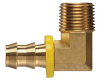 Brass Push-on Fitting - Male Pipe 90 Degree Elbow
