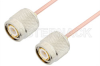 TNC Male to TNC Male Cable 6 Inch Length Using RG405 Coax, RoHS -- PE33391LF-6 -Image