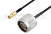 N Male to SSMC Plug Cable 48 Inch Length Using PE-SR405FLJ Coax -- PE3C4451-48 -Image