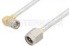SMA Male to SMA Male Right Angle Cable 60 Inch Length Using PE-SR402FL Coax, RoHS -- PE3483LF-60 -Image
