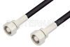 75 Ohm SMC Plug to 75 Ohm SMC Plug Cable 24 Inch Length Using 75 Ohm PE-B150 Coax -- PE3388-24 -Image