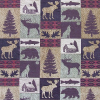 Cabin/Moose Patch Chenille Fabric -- R-Fairbanks -- View Larger Image