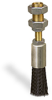 "(Formerly A2256-2X01), Round Brush With Adjustable Shank 5/8"" Nylon Bristles, 1/8"" Female NPT Inlet, 1/2""-20 Remote Mounting Thread -- A2256-NR2 -- View Larger Image"