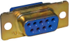 Receptacle, D-Sub; Receptacle; 9; Steel; Crimp; 109 Series -- 70041697