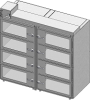 Standard Welded Stainless Steel 8 Door Double Tier Desiccator (a.k.a. Desiccator Cabinet, Dry Box, Dry Storage Cabinet, or Low-Humidity Storage Cabinet) -- CAP19S-SST-8DR-DBL-24Wx18Hx24D-3B