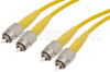 FC to FC Duplex Using 9/125 Single Mode Fiber Optic Cable 3 Meters Length in Yellow -- PE300018-3