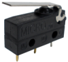 MICRO SWITCH ZM Series Subminiature Basic Switch, SPDT, 125/250 Vac, 0.1 A, Straight Lever Actuator, PCB Termination, Gold-Plate Brass Contacts -- ZM10D20D01 -Image