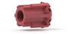 Selection Valve, 6 Position-7 Port .063 Red -- V-340 - Image