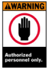 ANSI Z535 Safety Sign (B-120; Black, Red, Orange on White; WARNING; Premium Fiberglass) -- 754476-45018