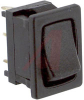 Switch, Rocker; Miniature Power; D Series - 10 Amp @ 125 VAC; SPDT; Mom.-None-On -- 70128147 - Image