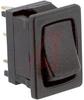 Switch, Rocker; Miniature Power; D Series - 10 Amp @ 125 VAC; SPDT; Mom.-None-On -- 70128147 - Image