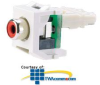 Panduit® NetKey Keystone Module with RCA Punchdown.. -- NKRPM