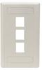 GigaStation Wallplate, 3-Port, Single-Gang, Office White -- WP468 -Image
