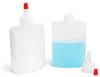 Plastic Bottles, Squeeze Bottles w/ Red Tip Spout Caps -- 0167-01