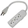 3-Outlet Power Strip, 125VAC 13Amp 0.66ft -- 2150-SF-24 -- View Larger Image