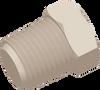 1/4-18 NPT Commercial Grade Hex Thread Plug, Natural -- AP032518N - Image