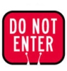 Traffic Cone Snap-On Signs (DO NOT ENTER) -- 754476-80117