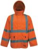 Rain Jacket,Class 3,Trilobal,Orange,L -- 21Z069