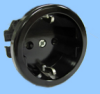 16A/250V Black Continental European Socket -- 88011020 - Image