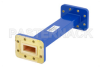 WR-90 Commercial Grade Straight Waveguide Section 6 Inch Length with CPR-90G Flange Operating from 8.2 GHz to 12.4 GHz -- PE-W90S002-6 - Image