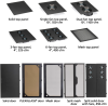 24U Server Cabinet M6 Plexi-Front Black -- EC24U2442SPMSMNK -- View Larger Image