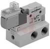 Solenoid Valve, 3 port, body ported, 24VDC, L plug conn w/.3m lead, 1/4 fitting -- 70071503