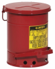 Red Steel Oily Waste Can -- CAN138 -Image