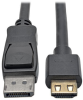 DisplayPort 1.2a to HDMI Active Adapter Cable with Gripping HDMI Plug, HDMI 2.0, HDCP 2.2, 4K x 2K @ 60 Hz (M/M), 3 ft. -- P582-003-HD-V2A -- View Larger Image