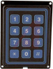 Keypad; 3 x 4 in.; Flange Mount; 3.000 + 0.015 in.; 24 VDC; 10 Ohms (Max.) -- 70217118 - Image