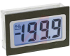 Voltmeter, 3.5 digit blue backlit, 200mV, 9 pin SIL, IP65 -- 70101377 - Image