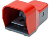 On-Off Foot Switch: single plastic pedal with red metal guard -- APS1143-V0-M