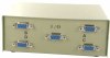 4-Way DB9 Female ABCD Serial or EGA Monitor Switch Box -- 40D1-10604 - Image