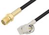 SMA Female to SMA Male Right Angle Cable 200 cm Length Using RG174 Coax -- PE3W03981-200CM -Image
