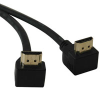 High Speed HDMI Cable with right angle Connectors, Digital Video with Audio (M/M) 6-ft -- P568-006-RA2
