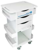 Lab Cart,HDPE,35 H x 23 W x19 In D,White -- 51007