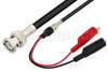 BNC Male to Alligator Clip Cable 72 Inch Length Using 75 Ohm RG59 Coax -- PE3954-72 -Image