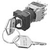 Selector Switch With Key, Square Bezel, Oil-Tight -- AH165-SJ