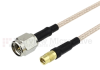 SMA Male to MMCX Jack Cable RG-316 Coax in 12 Inch -- FMC0224316-12 -Image